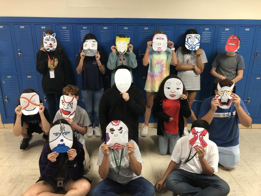 Kabuki Masks Take Over The Theatre 2 Classroom