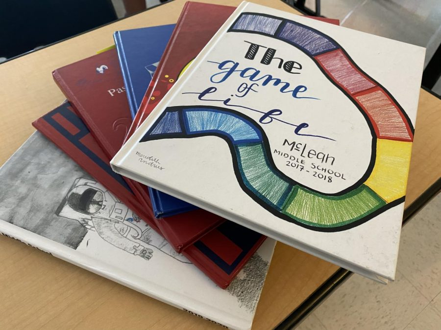 McLeans Yearbook covers have been designed by students for many years.